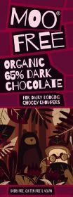 Moo Free Organic Moreish 65% Dark Chocolate Bar 80g x12