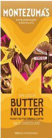 Montezuma Butter Nutter Milk Chocolate with Peanut Butter 90g x12