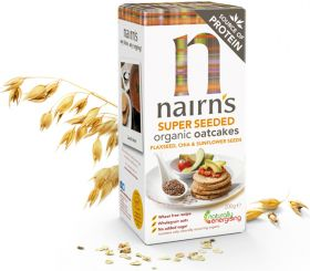Nairns Organic Super Seeded Oatcakes 200g x8
