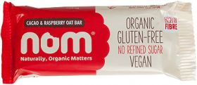 Nom Organic Cacao and Raspberry Oat Bar 52g x12