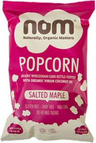 Nom Organic Salted Maple Popcorn 25g x20