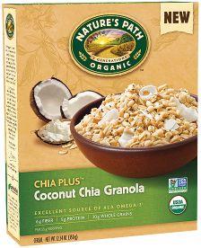 Natures Path Organic Granola - Coconut & Chia 325g x12