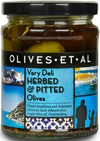 Olives Et Al Very Deli Herbed & Pitted Green Olives 250g x6