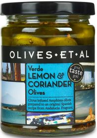 Olives Et Al Verde Lemon & Coriander Green Olives 250g x6