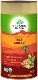 Organic India Ginger Tulsi Loose Tea 100g x6