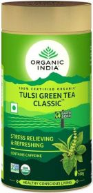 Organic India Classic Green Tea Tulsi Loose Tea 100g x6