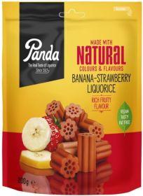 Panda Natural Banana Strawberry Liquorice 6x200g