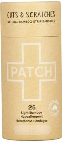 Patch Natural Adhesive Strips - 25 Tube x8