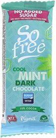 So Free Cool Mint Dark (No Added Sugar) Chocolate Snack Bar 35g x28