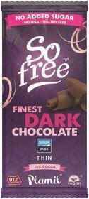 So Free Finest Dark (No Added Sugar) Thin Chocolate Bar 80g x12