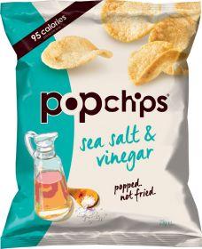 Popchips Sea Salt and Vinegar Popped Potato Crisps 23g x24