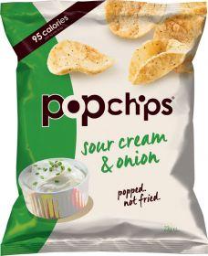 Popchips Sour Cream and Onion Popped Potato Crisps 23g x24