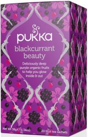 Pukka Organic Blackcurrant Beauty Teabags 38g (20's) x4