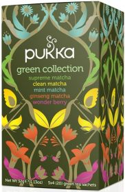 Pukka Organic Green Collection Teabags 32g (20's) x4