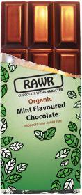 Rawr Organic & Fair Trade Raw Chocolate - 68% Cacao & Mint 60g x10