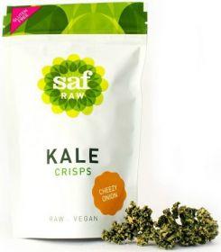 Saf Life Cheezy Onion Kale Crisps 40g x12