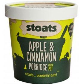 Stoats Porridge Quick Pot - Apple & Cinnamon 60g x16