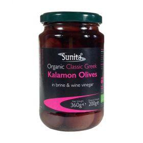 Sunita Olives Org. Green Olives Jar 6x360g