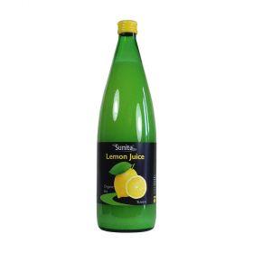 Sunita Lemon & Lime Juice Organic Lemon Juice 6x1ltr