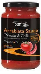 Sunita Tomato Products Organic Arrabiata Sauce 350g