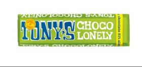 Tony's Chocolonely Fairtrade Almond and Sea Salt 51% Pure Dark Chocolate 47g x35