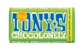 Tony's Chocolonely Fairtrade Dark Chocolate 51% Almonds & Sea Salt 180g x15