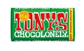 Tony's Chocolonely Fairtrade Milk Chocolate Hazelnut 180g x15