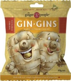 The Ginger People Gin Gins Hard Ginger Candy 60gx24