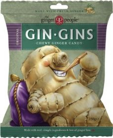 The Ginger People Gin Gins Chewy Ginger Candy Bag 150gx24