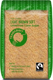 Traidcraft Fair trade Light Brown Soft Sugar (Unrefined Cane) 500g x6