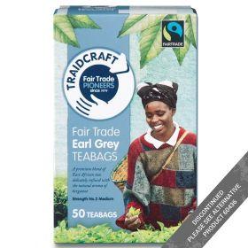 Traidcraft Earl Grey Fair Trade Teabags 50 Bags / 125g x6