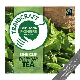 Traidcraft Everyday One Cup Fair Trade Teabags 100 bags x6