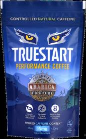 TrueStart Colombian Arabica Coffee Pouch - Natural Caffeine Boost (40's) 80g x6