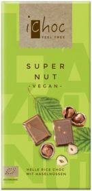 iChoc Organic Super Nut Rice Chocolate 80g x10