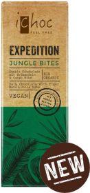 iChoc Organic Jungle Bites (Tiger Nuts and Cocoa Nibs) Dark Chocolate 50g x15