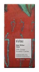 Vivani Organic Superior Dark with Chili Chocolate 100g x10