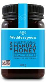 Wedderspoon KFactor 12 Raw Manuka Honey 500g x6