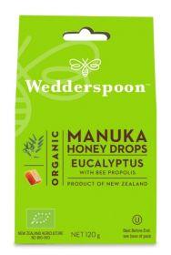Wedderspoon Eucalyptus Natural Manuka Honey Drops (20 drops Per Box) 120g x12