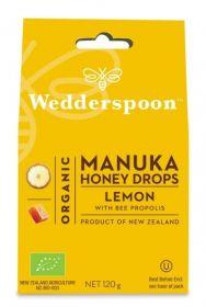 Wedderspoon Lemon Natural Manuka Honey Drops (20 Drops Per Box) 120g x12