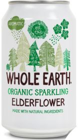 Whole Earth Organic Lightly Sparkling Elderflower Drink 330ml x24