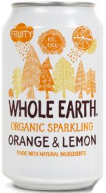 Whole Earth Organic Lightly Sparkling Orange and Lemon Drink 330ml x24