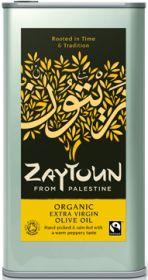 Zaytoun Fair Trade & Organic Extra Virgin Olive Oil 5L x1