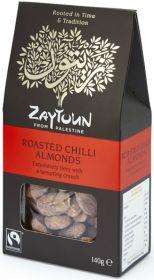 Zaytoun Fairtrade Chilli Roasted Almonds 140g x6